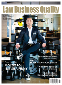 Magazyn  Law Business Quality Nr5/2015
