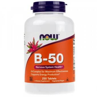 Now Foods Witamina B-50 - 250 tabl