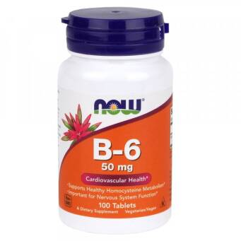 Now Foods Witamina B6 50 mg - 100 tabl