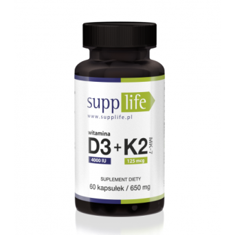 Supplife - Witamina D3 + K2 MK-7 - 60 kapsułek