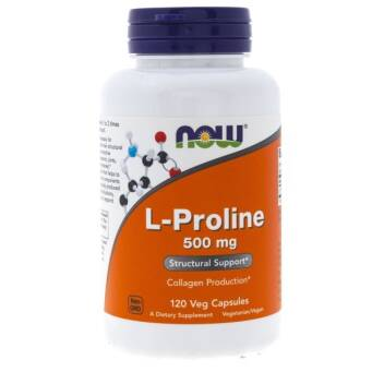 Now Foods L-Proline (L-Prolina) 500 mg - 120 kaps